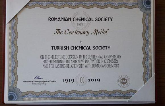 ROMANYA KİMYA DERNEĞİ'NDEN DERNEĞİMİZE KUTLAMA