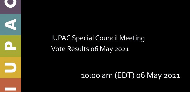 IUPAC Special Council Election Meeting Online Olarak Yapıldı